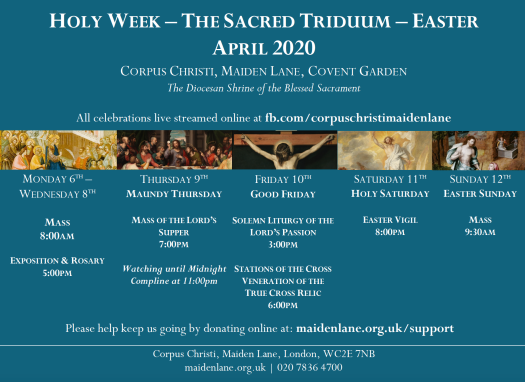 Holy Week Poster 2020
